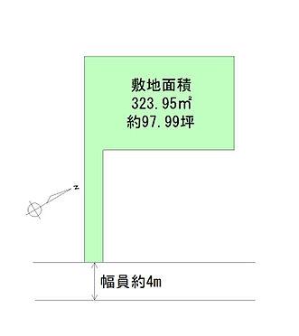 土地-仙台市青葉区米ケ袋3丁目 区画図
