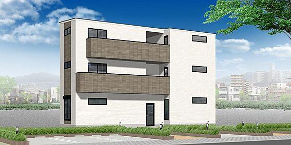 アパート-名古屋市中村区並木1丁目 外観パース 配色等、変更になる可能性もございます