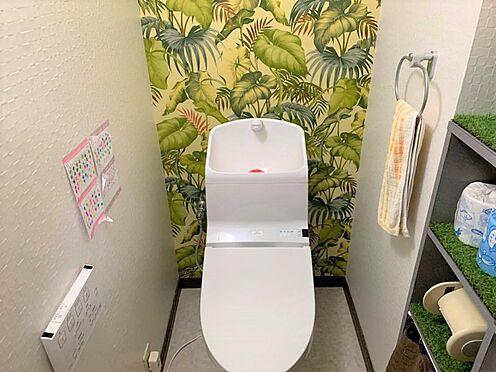 区分マンション-稲沢市祖父江町祖父江北川原 アクセントクロスがお洒落なトイレ