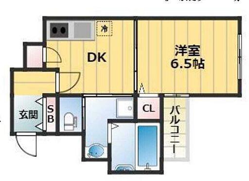 区分マンション-大阪市中央区瓦屋町2丁目 間取り