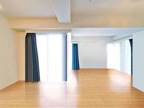 区分マンション-渋谷区恵比寿3丁目 自由な家具配置が楽しめるフリーディオスペース約13.5帖 (CGで作成したリフォームイメージです)