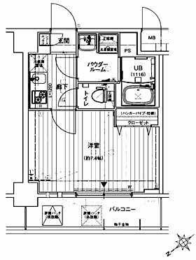 マンション(建物一部)-大阪市港区波除 間取り