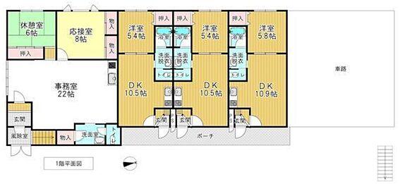 一棟マンション-函館市的場町 間取り