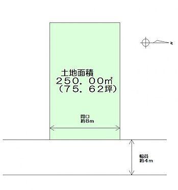 土地-亘理郡亘理町長瀞字長峯 区画図
