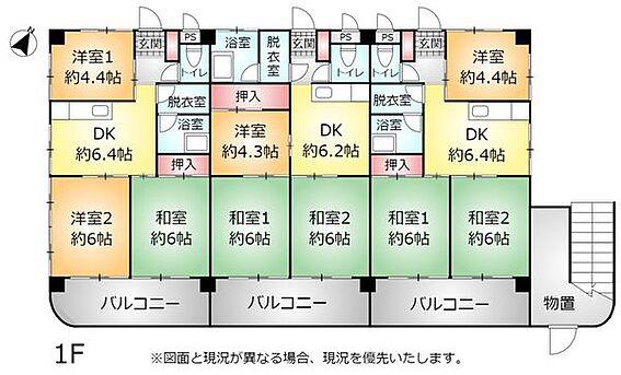 アパート-中頭郡読谷村字比謝 1F 間取り図