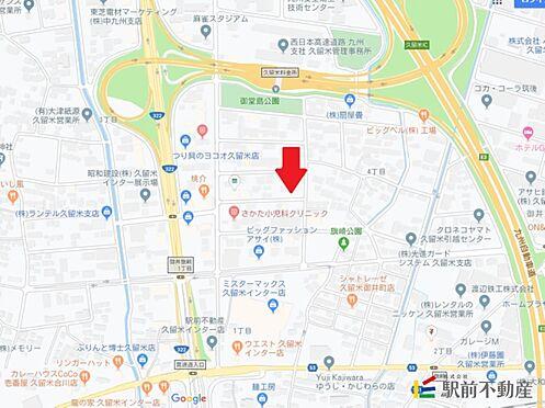 マンション(建物全部)-久留米市東合川4 現地案内図