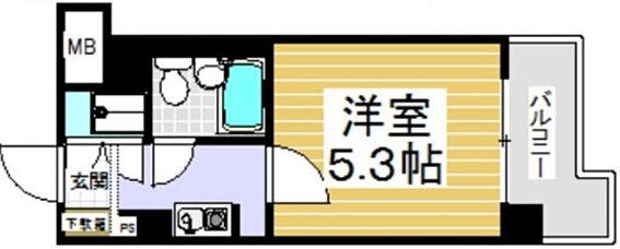 マンション(建物一部)-京都市上京区東堀川通下長者町下る三町目 間取り