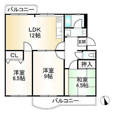 中古マンション-神戸市須磨区横尾5丁目 間取り