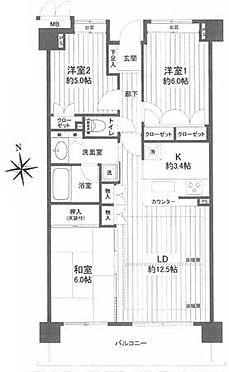 マンション(建物一部)-横浜市瀬谷区瀬谷1丁目 間取り
