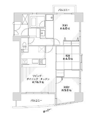 中古マンション-大阪市北区大淀中2丁目 間取り