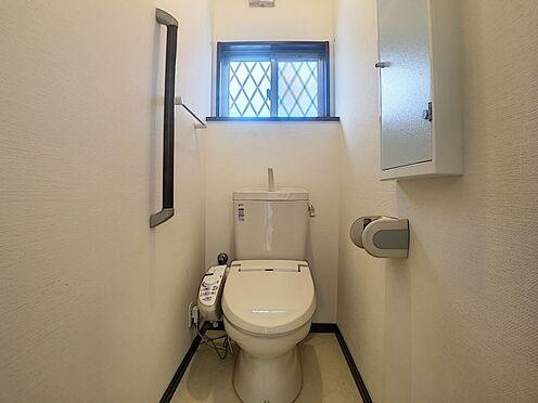 戸建賃貸-西尾市横手町溝東 安全を配慮し、トイレは手すりを設置!