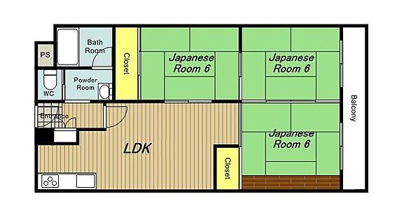 マンション(建物一部)-大阪市平野区平野宮町1丁目 ファミリーにオススメの3LDK