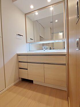 区分マンション-新宿区西新宿8丁目 三面鏡裏収納付き洗面化粧台 家具、備品は販売価格に含まれません。