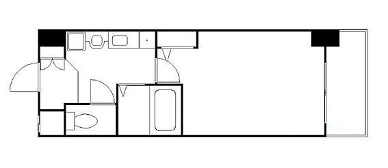 マンション(建物一部)-大阪市北区南森町2丁目 シンプルな単身者向けの間取り