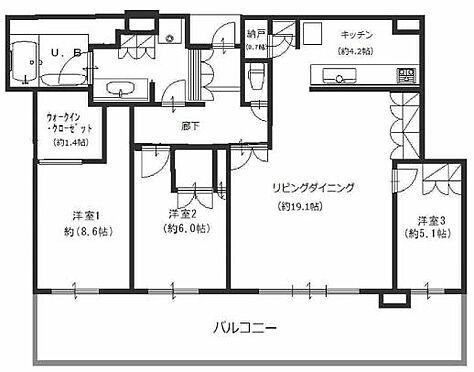 マンション(建物一部)-大阪市北区中之島6丁目 間取り