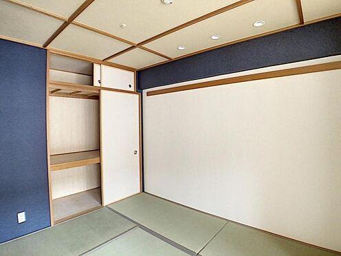 区分マンション-名古屋市中川区新家2丁目 和室は青のクロスがとてもおしゃれ☆