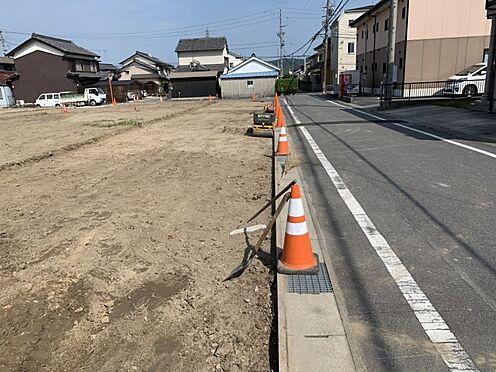 土地-西尾市吉良町上横須賀池端 閑静な住宅街、お子様ものびのびと暮らせます。