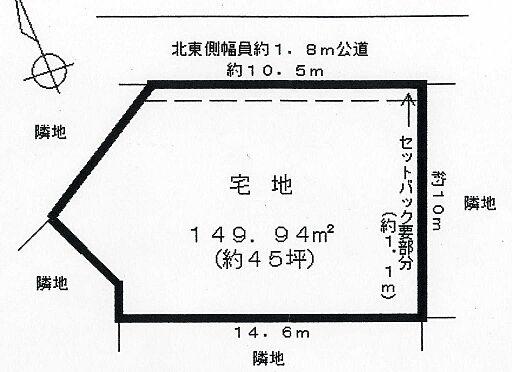 土地-牛久市牛久町 区画図