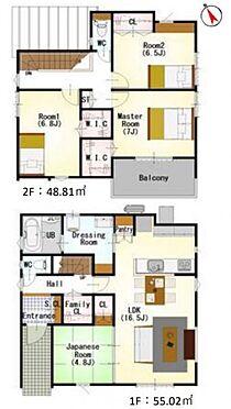 戸建賃貸-西尾市住吉町2丁目 家族みんなが気持ちよく過ごすための構造と使いやすい間取りを実現。