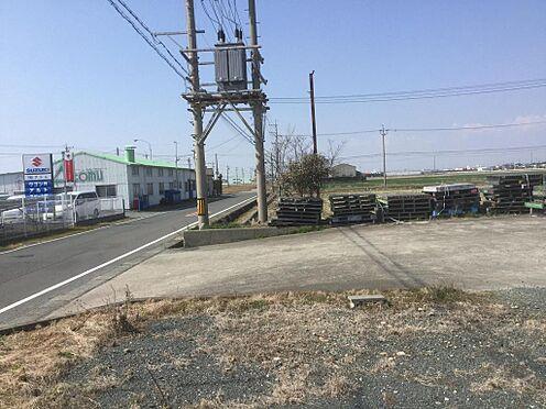 倉庫-掛川市西大渕 南側道路