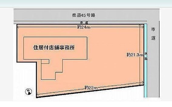 店舗付住宅(建物全部)-岡山市南区郡 間取り