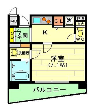 区分マンション-大阪市北区浮田2丁目 使いやすい間取り