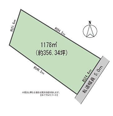 土地-北佐久郡軽井沢町大字長倉鶴溜 区画図