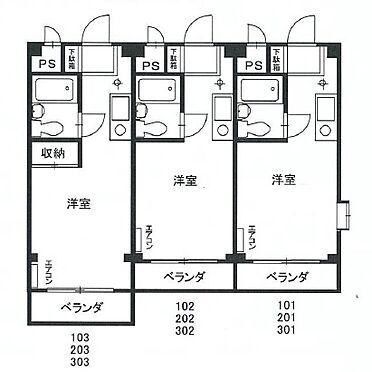 マンション(建物全部)-武蔵村山市榎 間取り