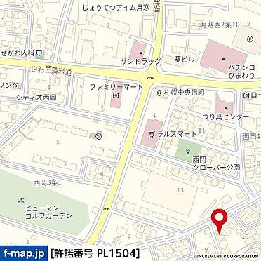 アパート-札幌市豊平区西岡五条2丁目 地図