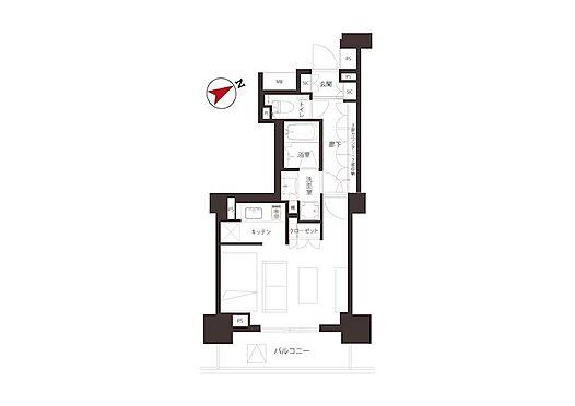 中古マンション-千代田区外神田2丁目 33.61m2の1R。収納豊富