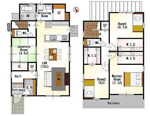 戸建賃貸-名古屋市緑区鳴丘2丁目 間取りは生活のしやすさを重視。家族みんなが気持ちよく過ごすための構造と使いやすい間取りを実現。