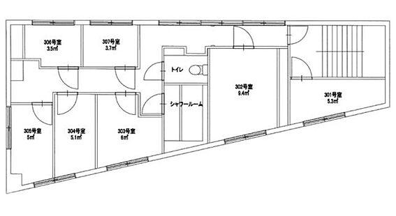 一棟マンション-江東区亀戸8丁目 3階間取図
