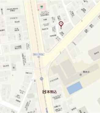 寮-文京区本駒込3丁目 地図