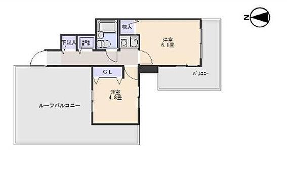 区分マンション-神戸市中央区生田町2丁目 間取り