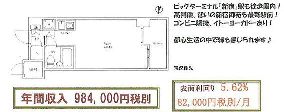マンション(建物一部)-新宿区新宿1丁目 14階建7階部分・西向きでございます。