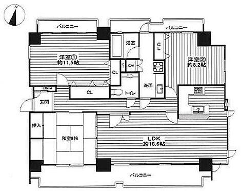 中古マンション-名古屋市千種区自由ケ丘2丁目 専有面積118.78平米!広々3LDK!
