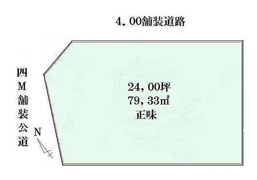 土地-狭山市大字南入曽 区画図