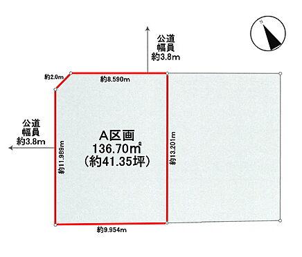 土地-武蔵野市吉祥寺東町3丁目 区画図