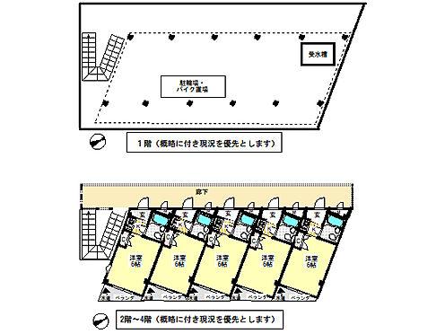 マンション(建物全部)-吹田市千里山竹園1丁目 各階平面図、概略図に付き現況を優先と致します。