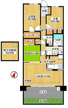 中古マンション-尾張旭市印場元町1丁目 広々としたテラス・専用庭付きの築浅マンションです!