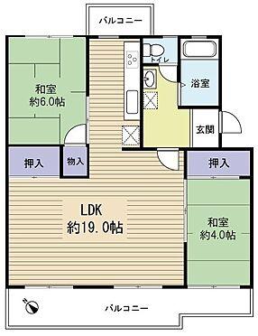 区分マンション-千葉市美浜区稲毛海岸3丁目 2LDK→3LDKに変更可能な間取りです!