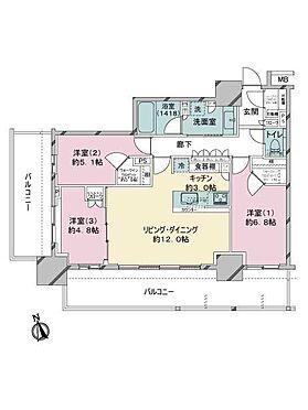 区分マンション-新宿区西新宿8丁目 間取り