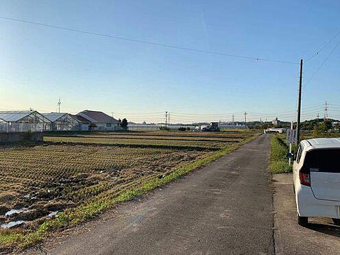 土地-みよし市三好町井ノ花 南西側前面道路