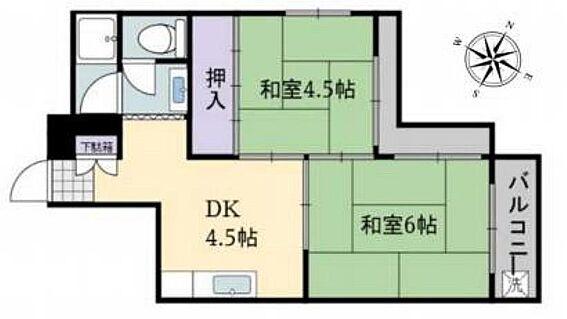 マンション(建物一部)-神戸市兵庫区三川口町2丁目 30平米超えの2DK