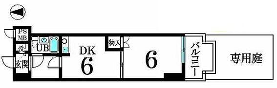 区分マンション-京都市中京区松屋町 南向きバルコニー・専用庭付