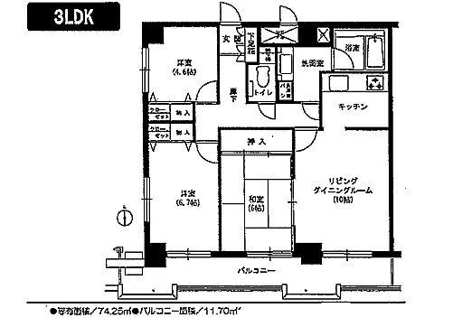 マンション(建物一部)-小松市大川町3丁目 間取り