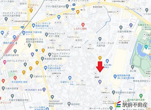 区分マンション-久留米市諏訪野町 現地案内図
