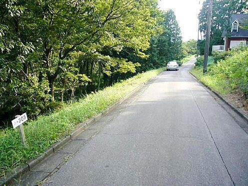 土地-伊豆の国市韮山多田 北西側より南東側を撮影。斜面になっています。