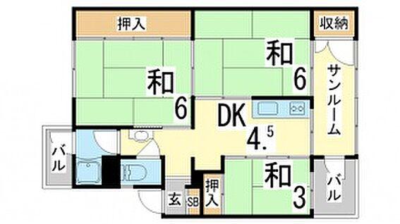 マンション(建物一部)-神戸市長田区五位ノ池町2丁目 バルコニーが複数あり、日当たり良好な間取りです。