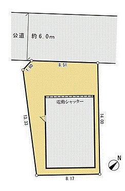 倉庫-伊勢原市田中 区画図